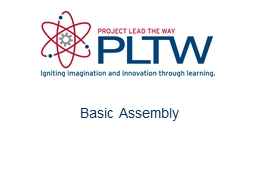 Basic  Assembly Assembly constraints are parameters that define
