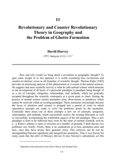 Revolutionary and Counter Revolutionary Theory in Geo