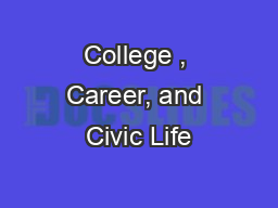 College , Career, and Civic Life