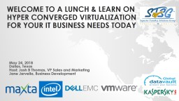 Welcome to A Lunch & Learn on