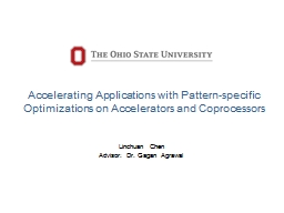 Accelerating Applications with Pattern-specific Optimizations on Accelerators and Coprocessors
