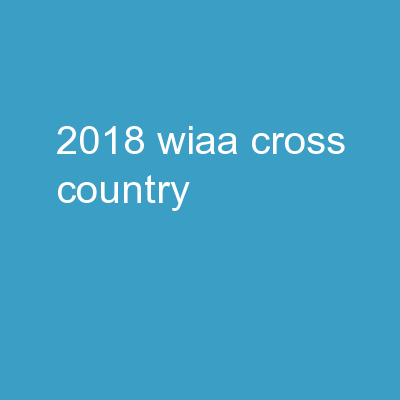 2018 WIAA  Cross Country
