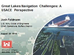 Great Lakes Navigation Challenges: A USACE Perspective