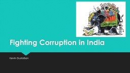 Fighting Corruption in India