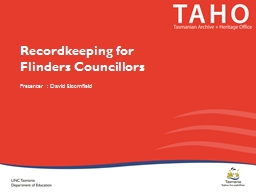 Recordkeeping for  Flinders Councillors