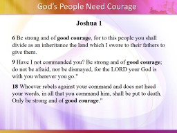 Joshua 1 6  Be strong and of PowerPoint PPT Presentation