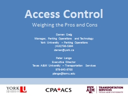 Access Control Weighing the Pros and Cons