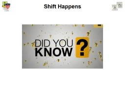 Shift Happens Think Critically and Creatively PowerPoint PPT Presentation