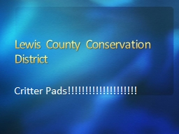 Lewis County Conservation District