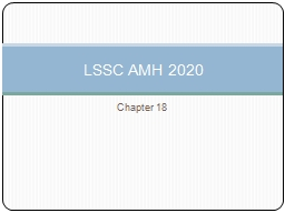 Chapter 18 LSSC AMH 2020