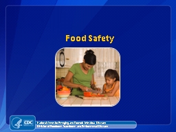 Food Safety National Center for Emerging and