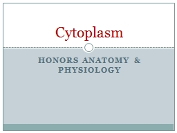 Honors Anatomy & Physiology