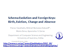 Schema Evolution and Foreign Keys: Birth, Eviction, Change and Absence