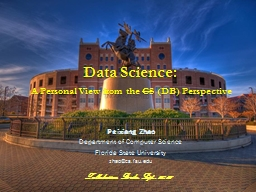 Data Science:  A Personal View from the
