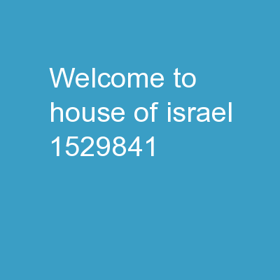 Welcome to House of Israel