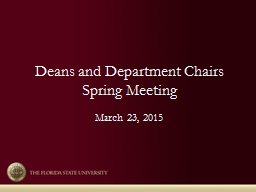 Deans and Department Chairs