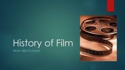 History of Film From 1940-1959