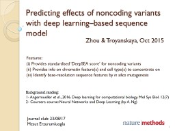 Predicting effects of noncoding variants with deep learning�based sequence model