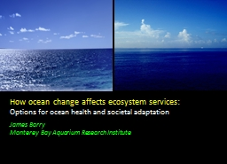 How ocean change affects ecosystem services: