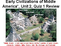 Early  Civilizations of Middle