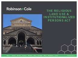 The Religious land use & institutionalized persons act