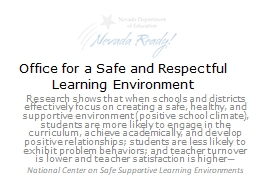 Office for a Safe and Respectful Learning Environment