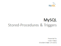 MySQL Stored-Procedures & Triggers