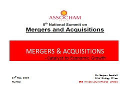MERGERS & ACQUISITIONS PowerPoint PPT Presentation