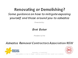 Renovating or Demolishing?