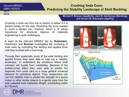 Crushing Soda Cans:  Predicting the Stability Landscape of Shell Buckling