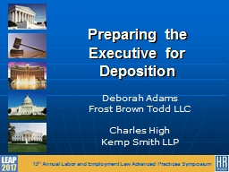 Preparing the Executive for Deposition
