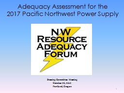 Adequacy Assessment for the
