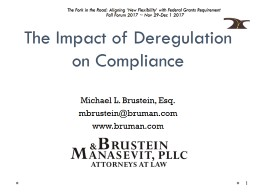 The Impact of Deregulation on Compliance
