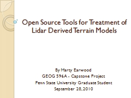 Open Source Tools for Treatment of