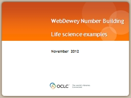 WebDewey  Number Building PowerPoint PPT Presentation