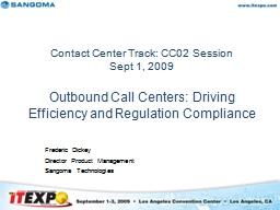 Contact Center Track: CC02 Session
