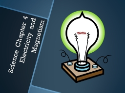 Science Chapter 4 Electricity and Magnetism