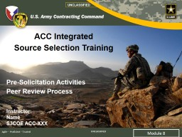 ACC Integrated Source Selection