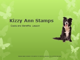 Kizzy Ann Stamps Costs and Benefits Lesson