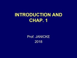 INTRODUCTION AND CHAP. 1 PowerPoint PPT Presentation