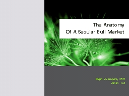 The Anatomy  Of  A Secular Bull Market