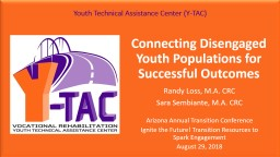 Connecting Disengaged Youth Populations for Successful Outcomes