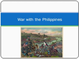 War with the Philippines PowerPoint PPT Presentation