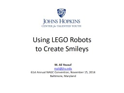 Using LEGO Robots  to Create Smileys