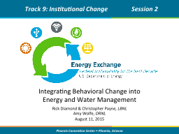 Integrating  Behavioral Change into