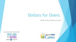 Dollars for Doers Money to the charities you love!