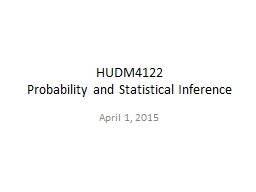 HUDM4122 Probability and Statistical Inference