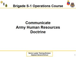 Communicate  Army Human Resources Doctrine