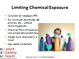 Limiting Chemical Exposure
