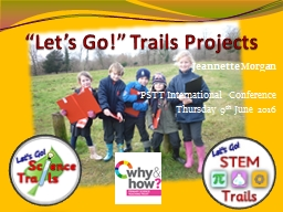 �Let�s Go!� Trails Projects